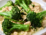 Broccoli in minced chicken